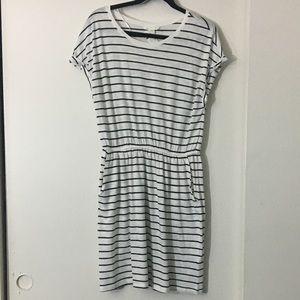 H&M Basics stripe dress with pockets